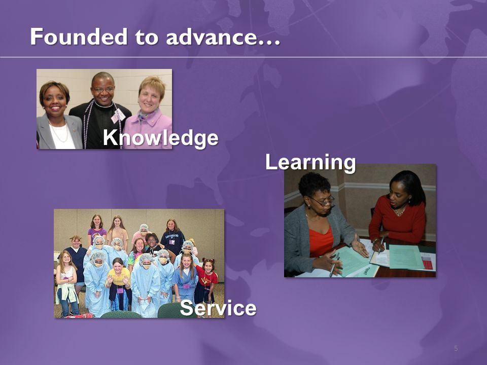 Founded to advance… 5 Knowledge Learning Service