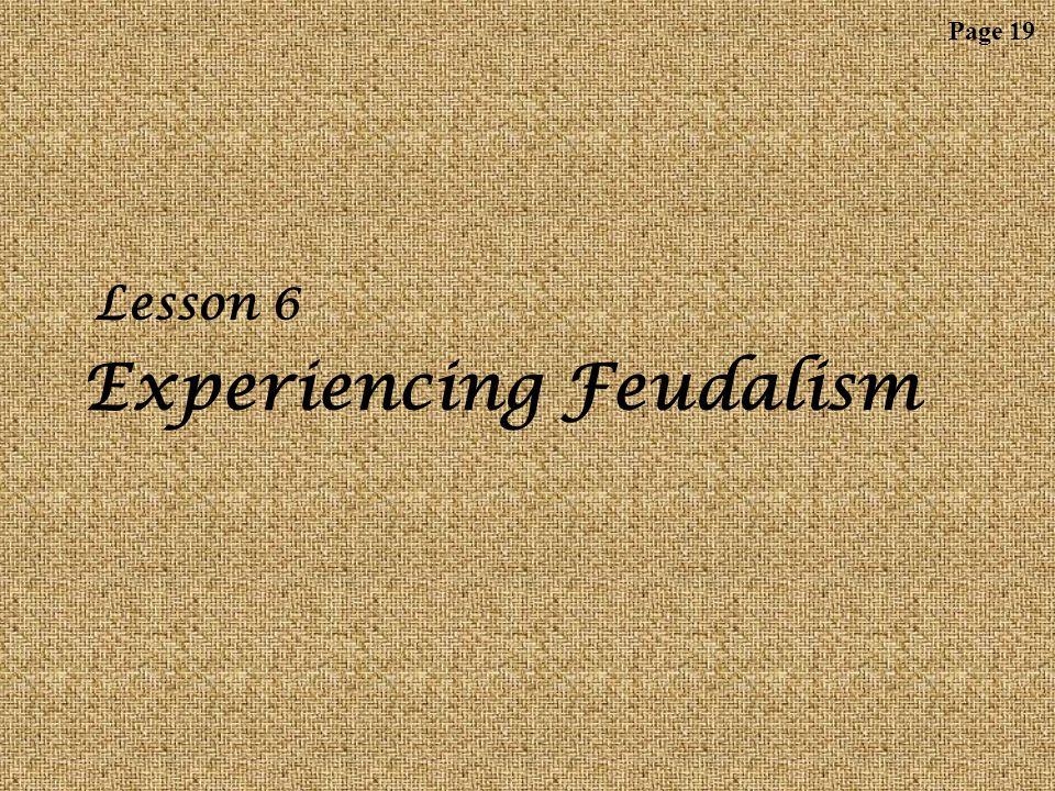 Lesson 6: Experiencing Feudalism L 18 W ARM- U P Now draw a scroll.