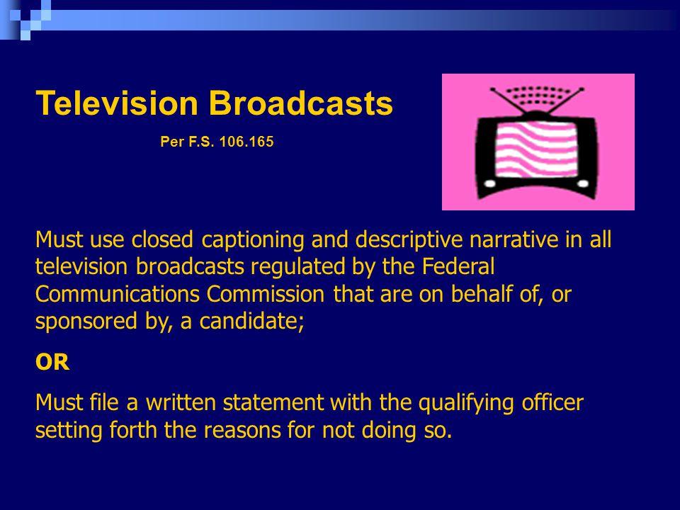 Television Broadcasts Per F.S.