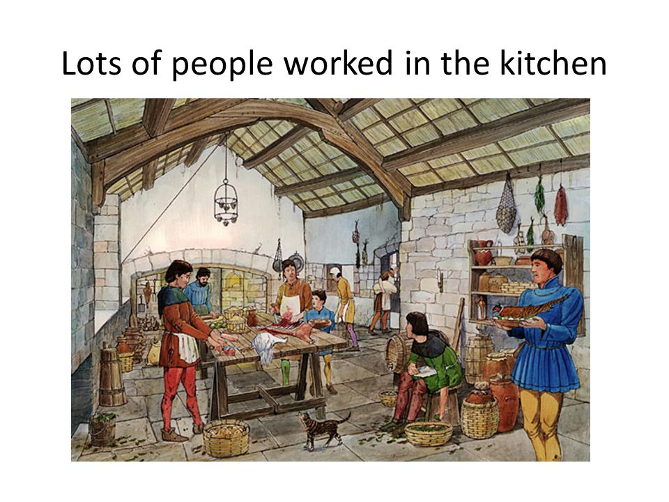 Lots of people worked in the kitchen
