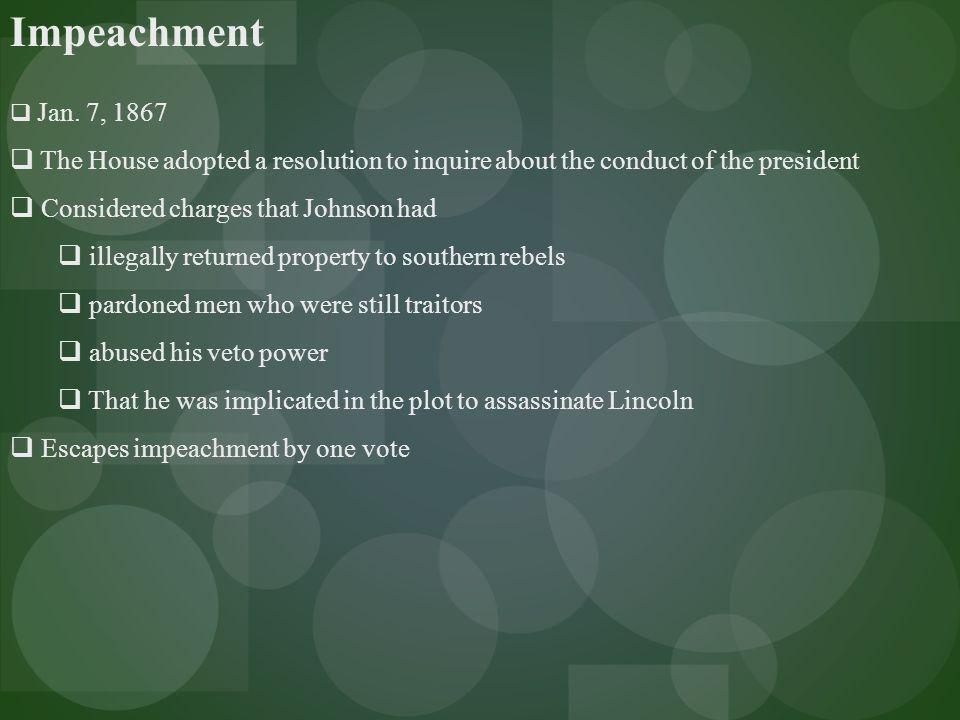 Impeachment  Jan.