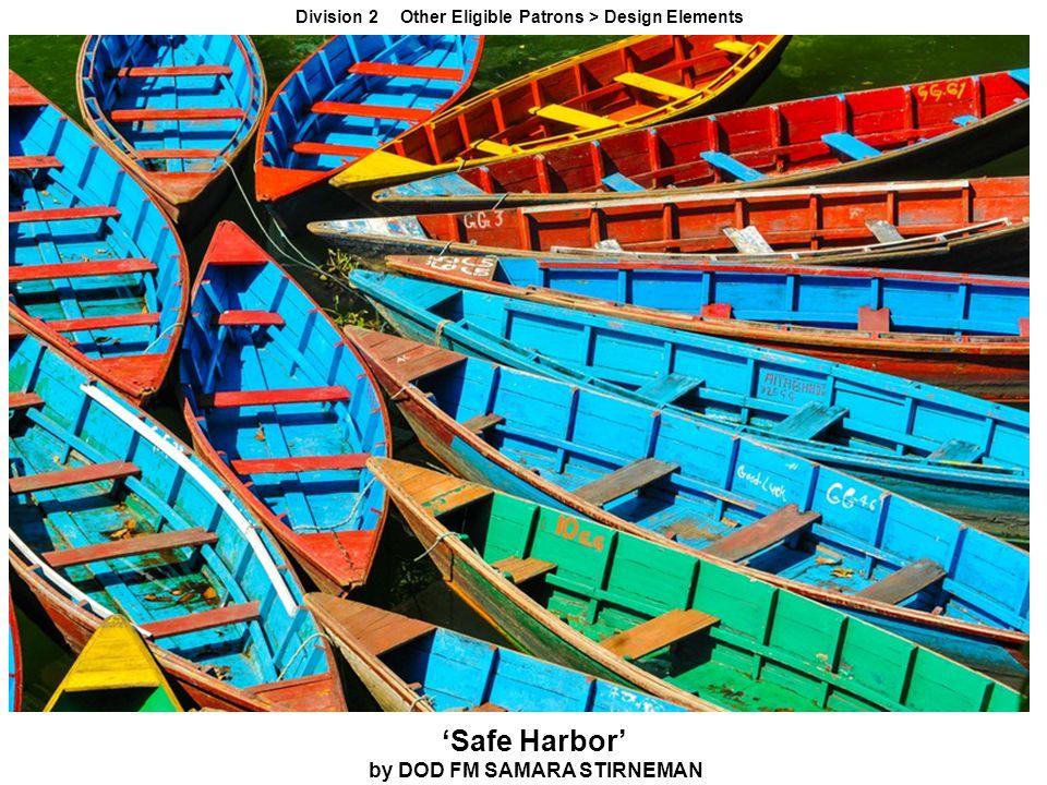 'Safe Harbor' by DOD FM SAMARA STIRNEMAN Division 2 Other Eligible Patrons > Design Elements