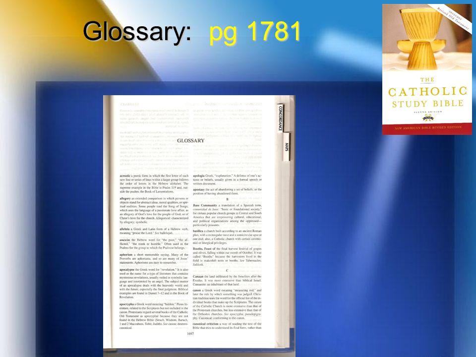 Glossary: pg 1781