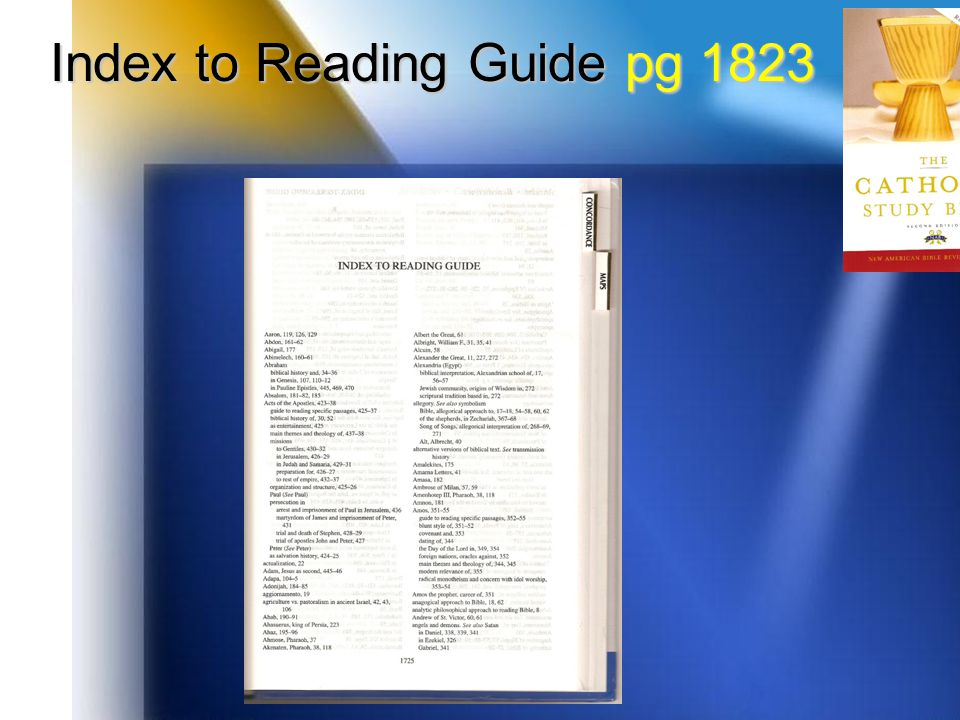 Index to Reading Guide pg 1823