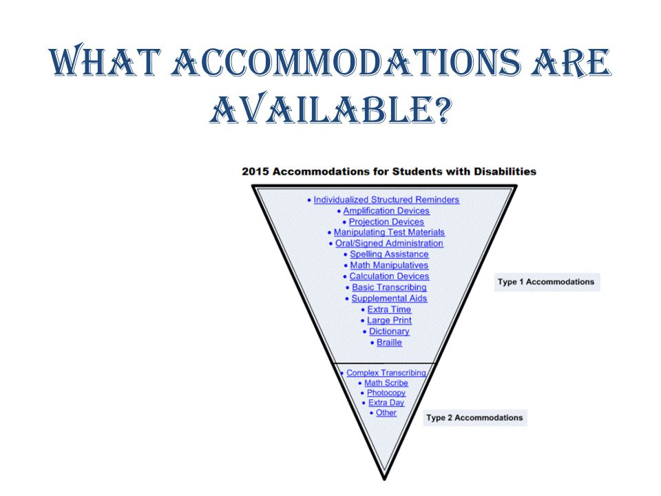 What accommodations are available?