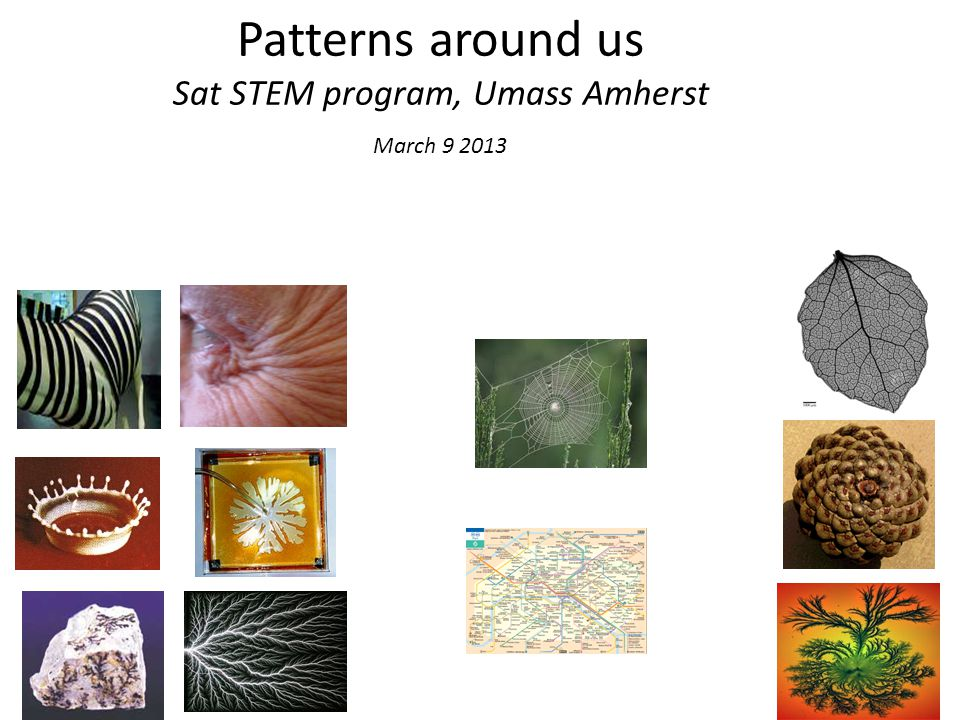 Patterns around us Sat STEM program, Umass Amherst March 9 2013