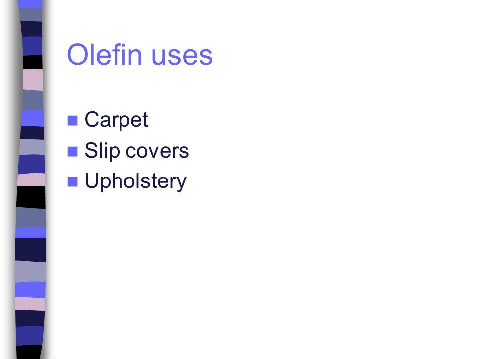 Olefin uses Carpet Slip covers Upholstery