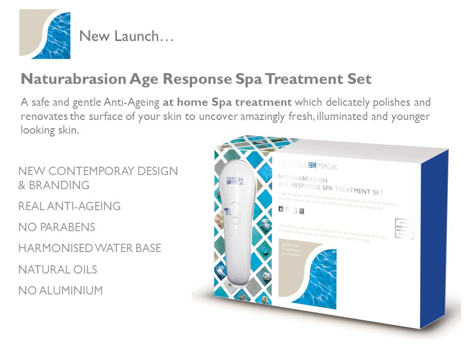 New Launch… Naturabrasion Age Response Spa Treatment Set A safe and gentle Anti-Ageing at home Spa treatment which delicately polishes and renovates the surface of your skin to uncover amazingly fresh, illuminated and younger looking skin.