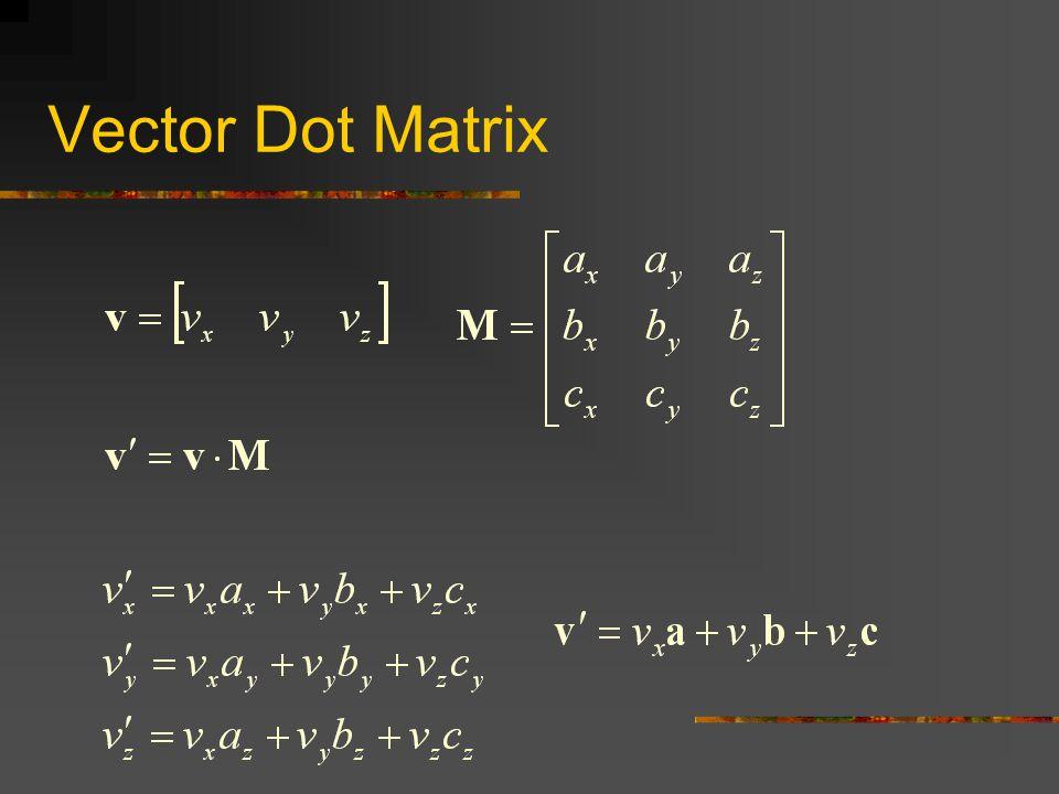 Vector Dot Matrix