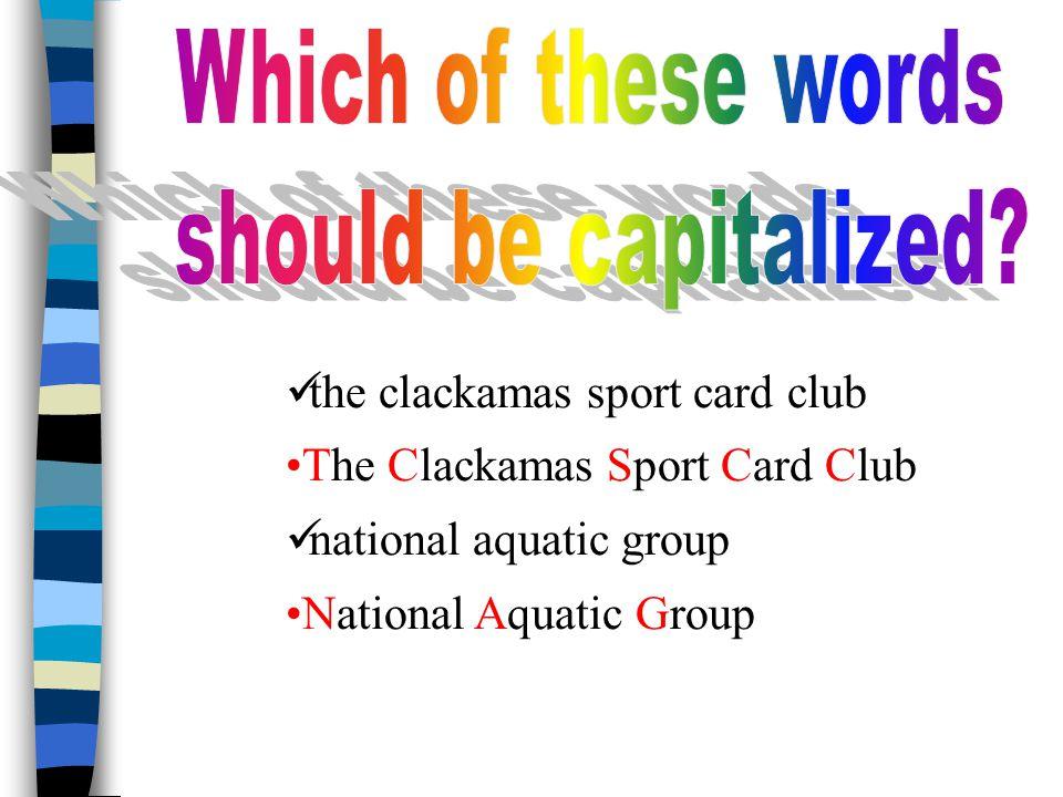 the clackamas sport card club The Clackamas Sport Card Club national aquatic group National Aquatic Group