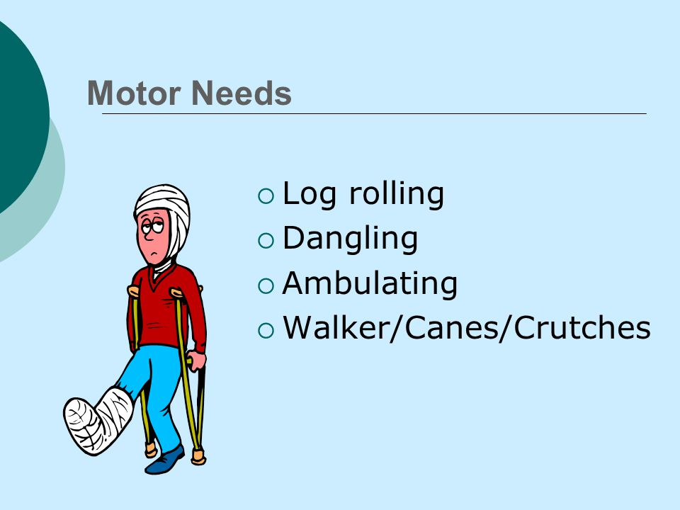 Transferring  Use proper body mechanics  Maintain body alignment  Use assistive devices  Hoyer Lift  Medicate for pain prn  Have patient assist as much as possible  Explain.