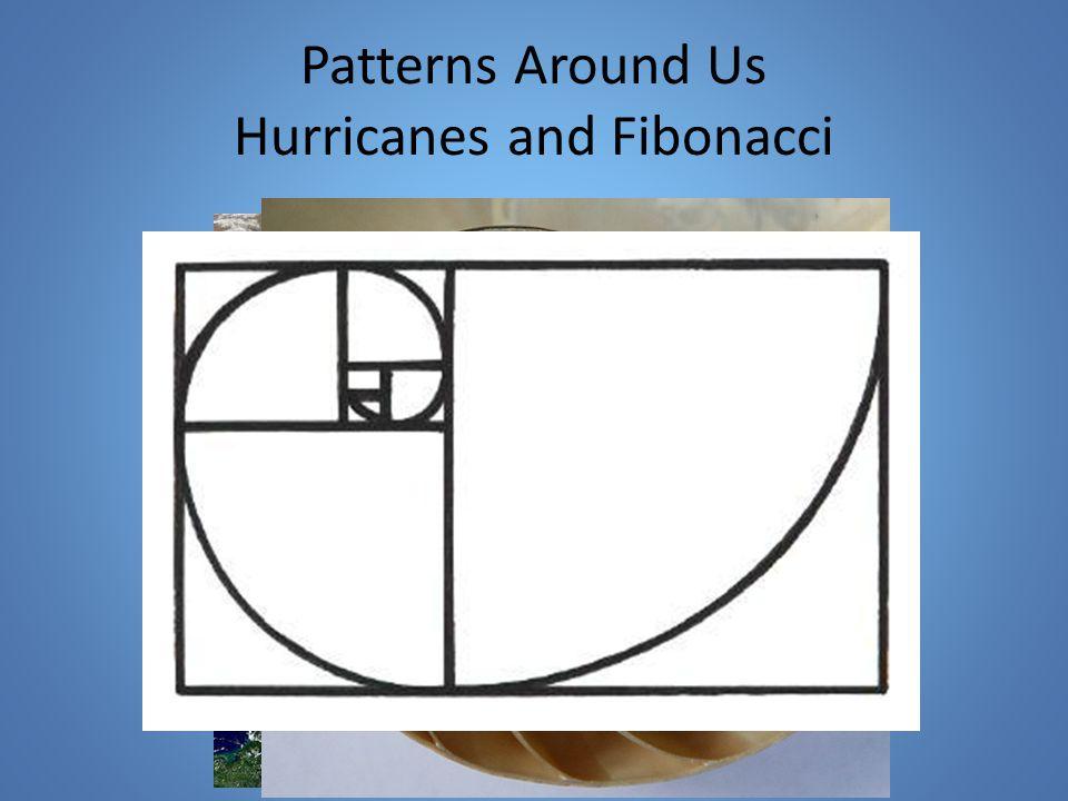 Patterns Around Us Hurricanes and Fibonacci