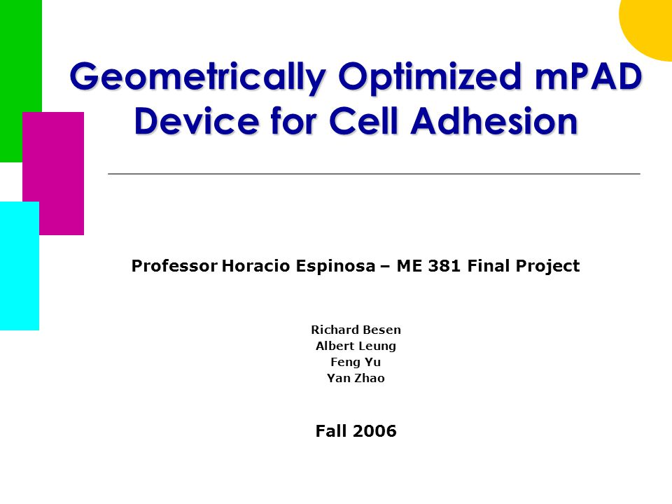 Fall 2006ME 38132  Pillar Deflection Detection  Force Analysis Package Optical Sensing (cont'd)