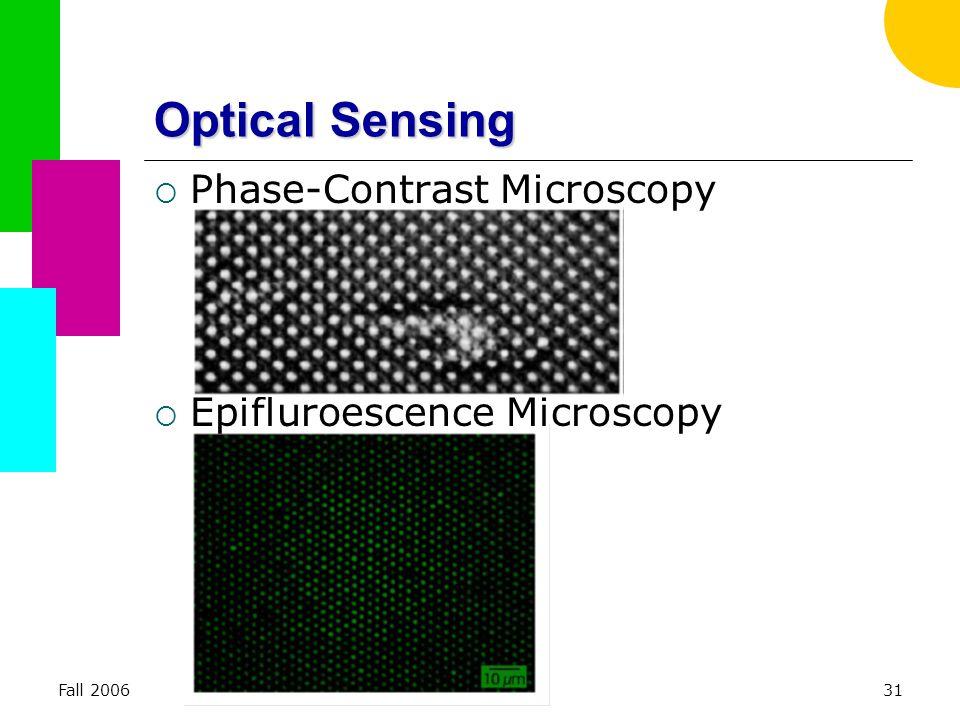 Fall 2006ME 38131 Optical Sensing  Phase-Contrast Microscopy  Epifluroescence Microscopy