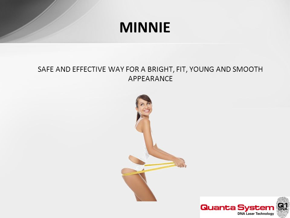 MINNIE SAFE AND EFFECTIVE WAY FOR A BRIGHT, FIT, YOUNG AND SMOOTH APPEARANCE