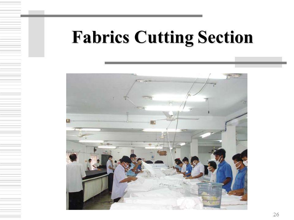 26 Fabrics Cutting Section