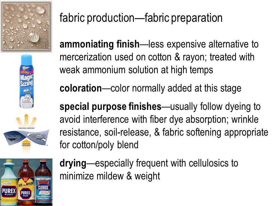 fabric production—fabric preparation tentering —supplies lengthwise & crosswise tension to fabric while it dries to produce uniform length & width