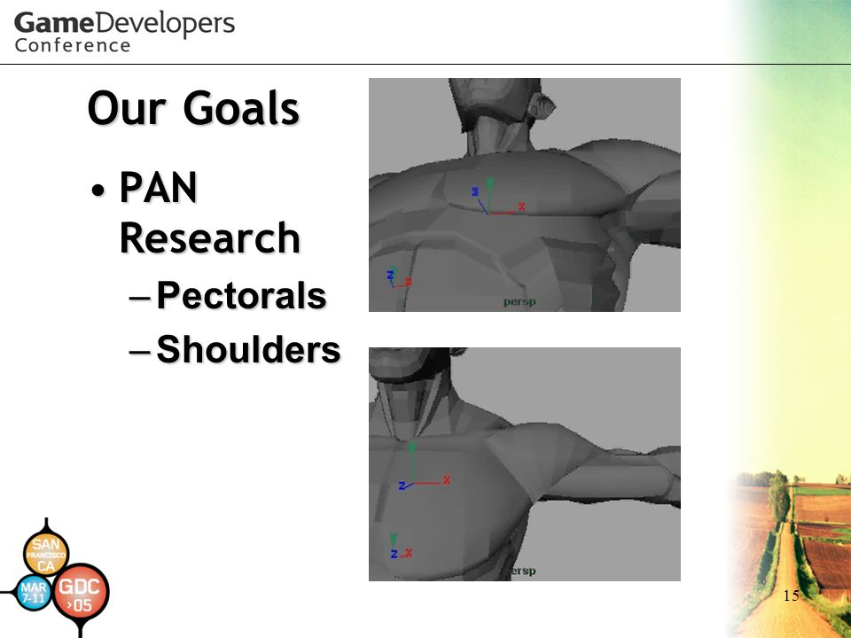 15 Our Goals PAN ResearchPAN Research – Pectorals – Shoulders