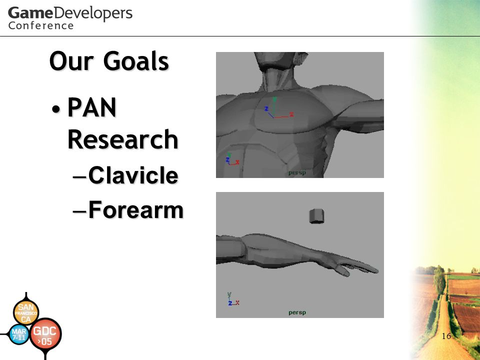 16 Our Goals PAN ResearchPAN Research – Clavicle – Forearm