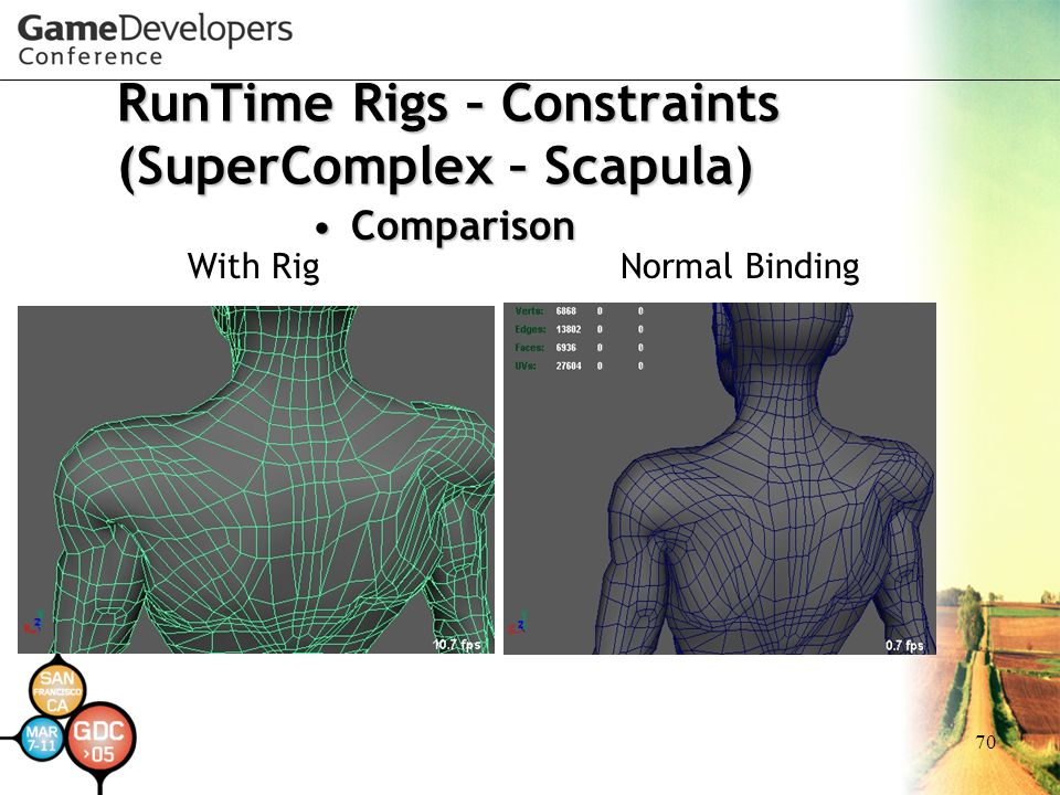 70 RunTime Rigs – Constraints (SuperComplex – Scapula) ComparisonComparison With RigNormal Binding