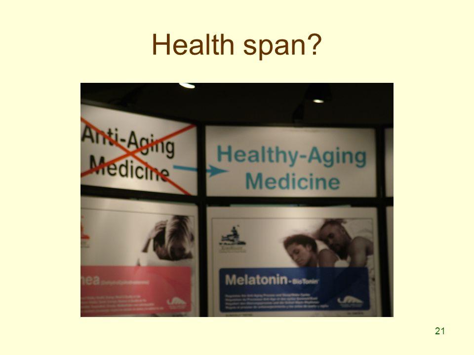 21 Health span
