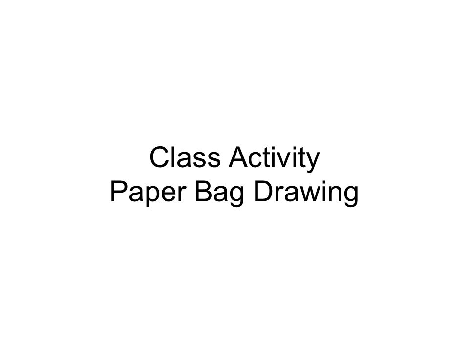 Class Activity Paper Bag Drawing