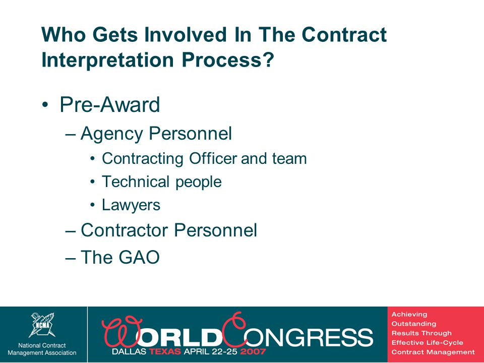 5 Who Gets Involved In The Contract Interpretation Process.