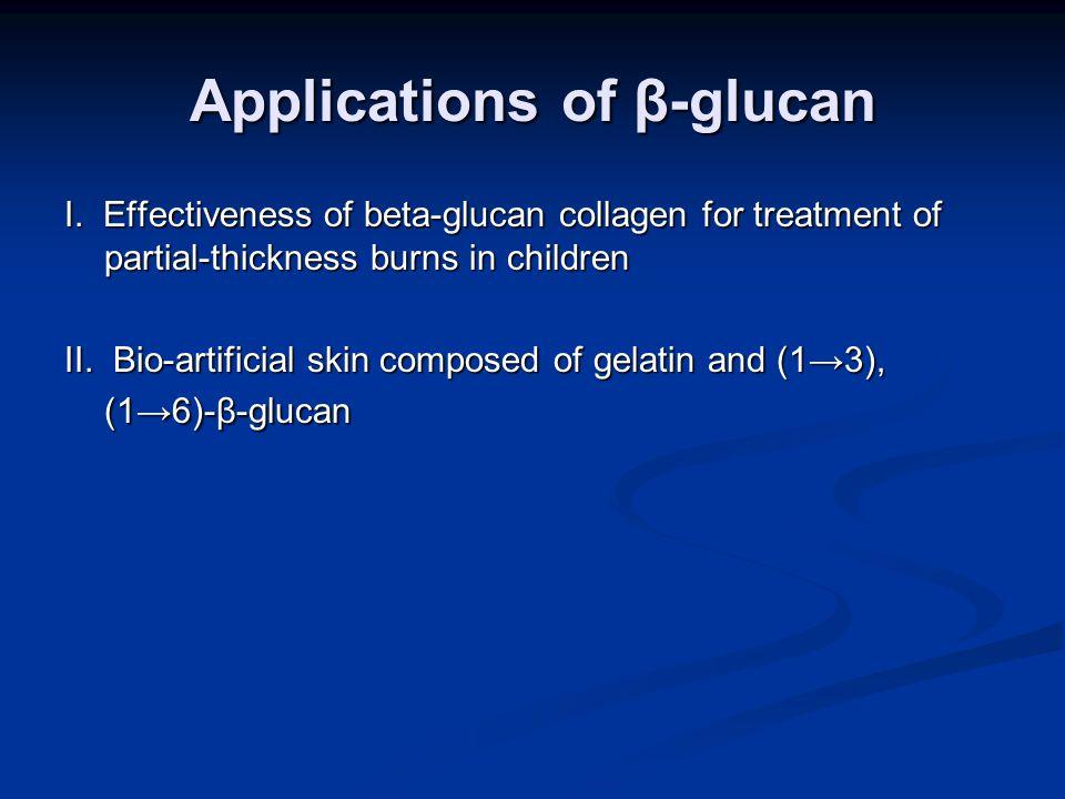 Applications of β-glucan I.