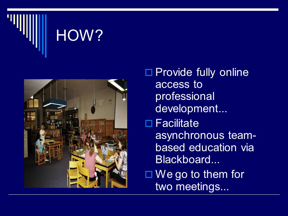 HOW.  Provide fully online access to professional development...