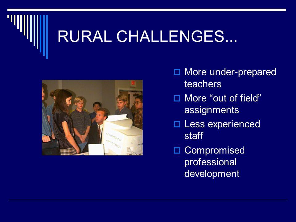 RURAL CHALLENGES...