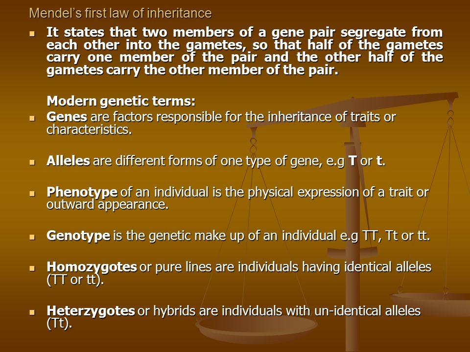 Dihybrid inheritance Inheritance of 2 pairs of contrasting characteristics.