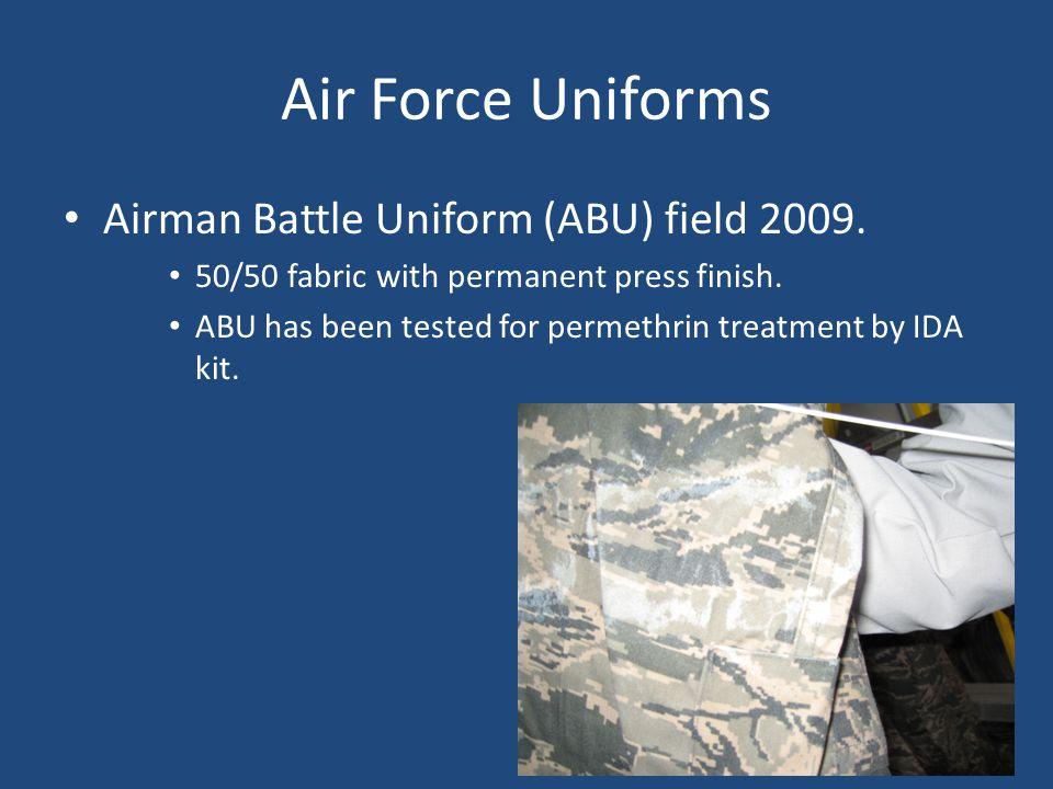 Air Force Uniforms Airman Battle Uniform (ABU) field 2009.