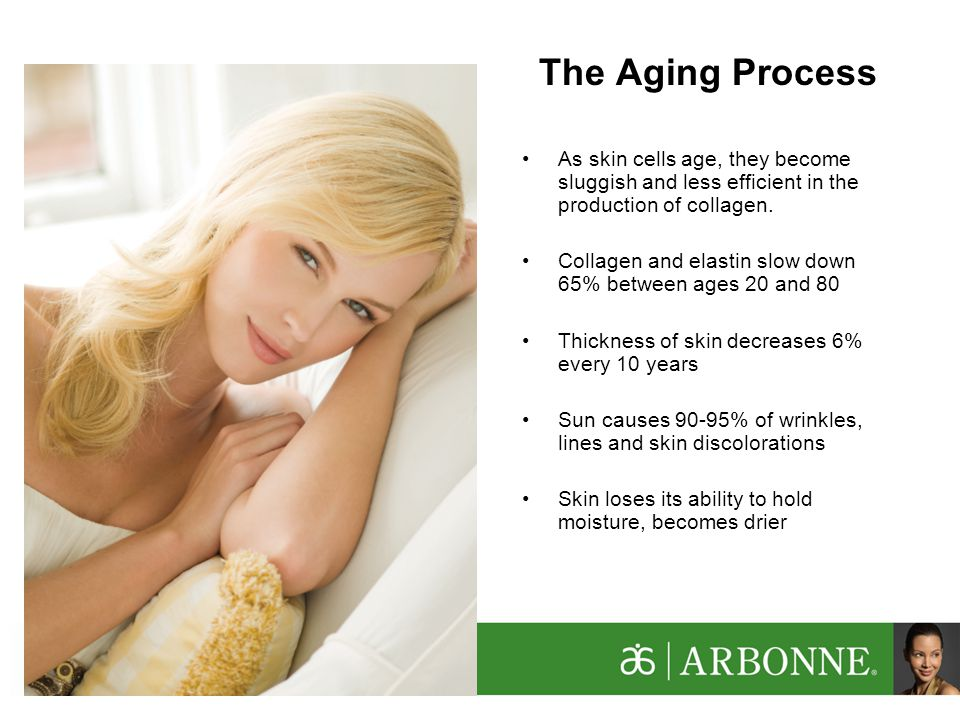 As skin cells age, they become sluggish and less efficient in the production of collagen.