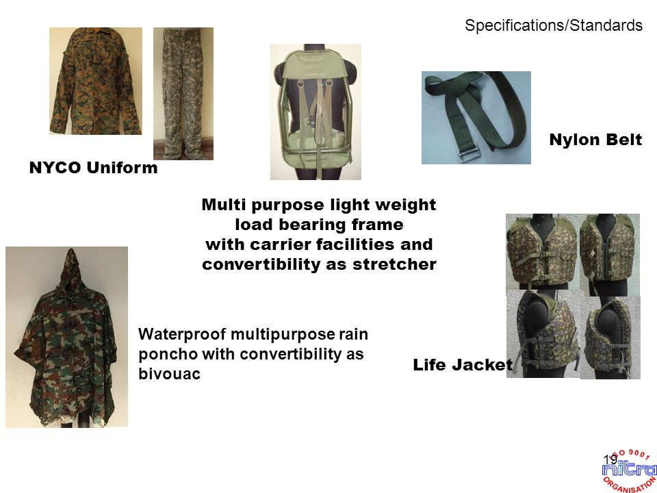 NYCO Uniform Life Jacket Nylon Belt Multi purpose light weight load bearing frame with carrier facilities and convertibility as stretcher Waterproof m