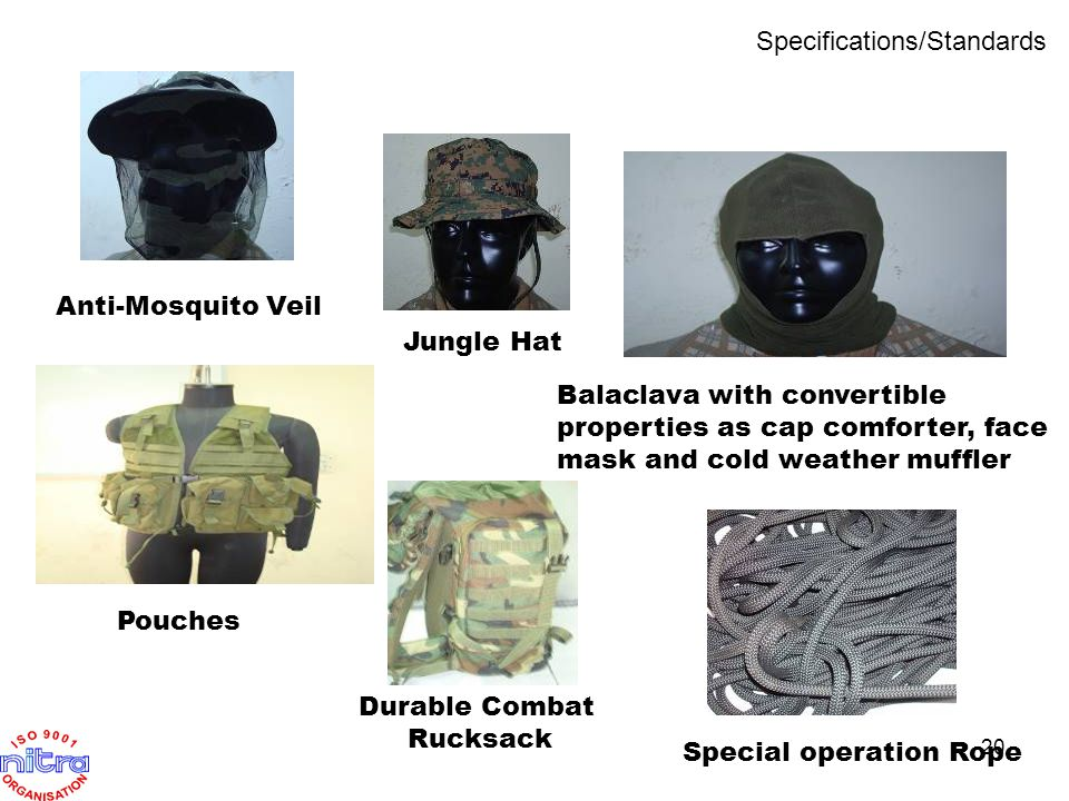 Jungle Hat Anti-Mosquito Veil Balaclava with convertible properties as cap comforter, face mask and cold weather muffler Pouches Durable Combat Rucksa