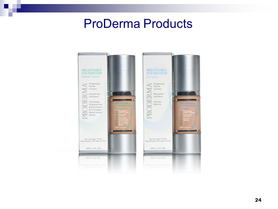 24 ProDerma Products