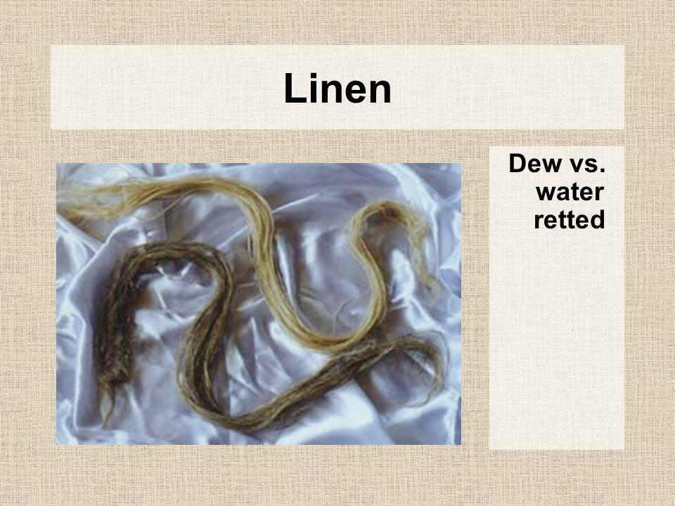 Linen Dew vs. water retted