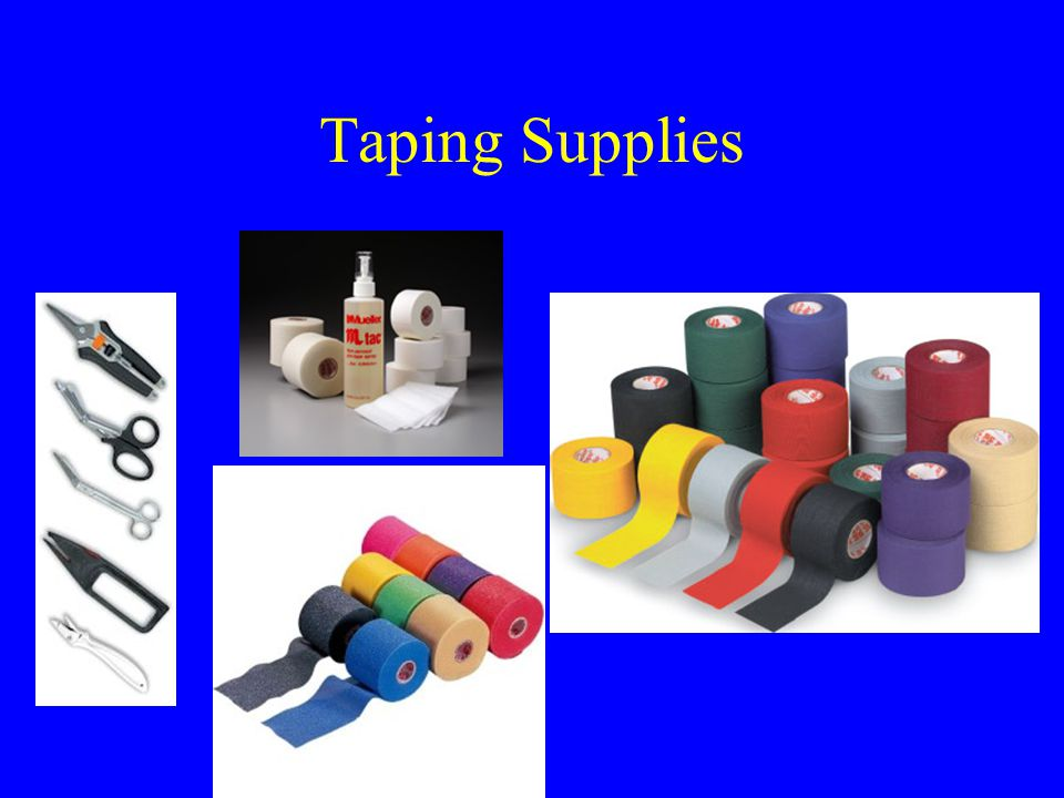 Taping and Wrapping in the Prevention and Treatment of Athletic Injuries –It should be stored in a cool, relatively dry environment.