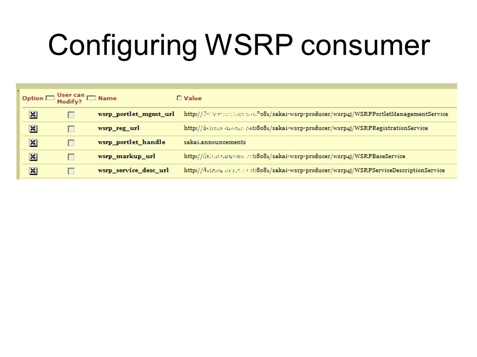 Configuring WSRP consumer