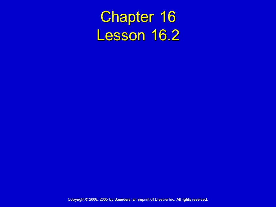 Chapter 16 Lesson 16.2