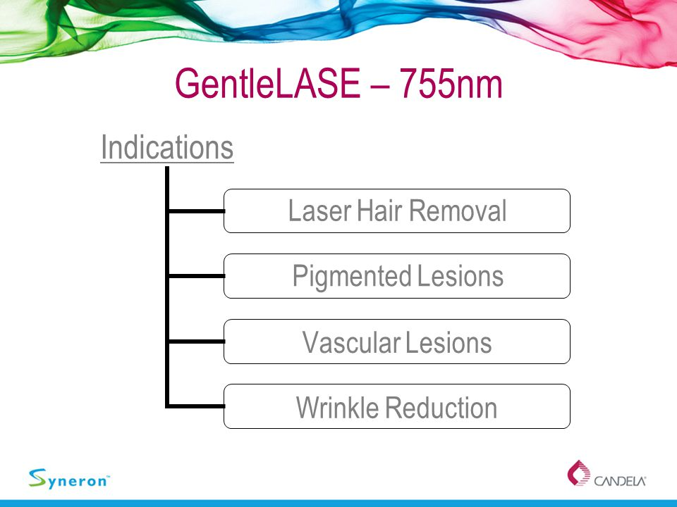 GentleLASE – 755nm Indications Laser Hair Removal Pigmented Lesions Vascular Lesions Wrinkle Reduction