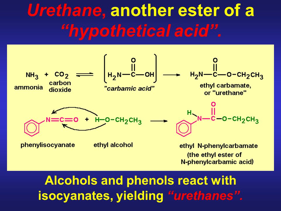 Urethane, another ester of a hypothetical acid .