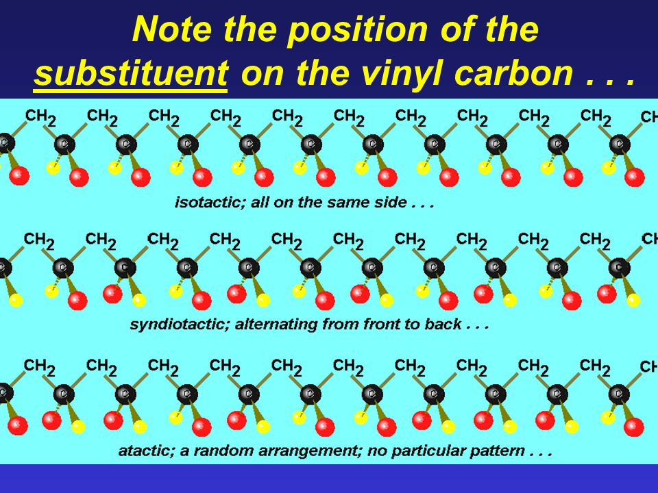 Note the position of the substituent on the vinyl carbon...