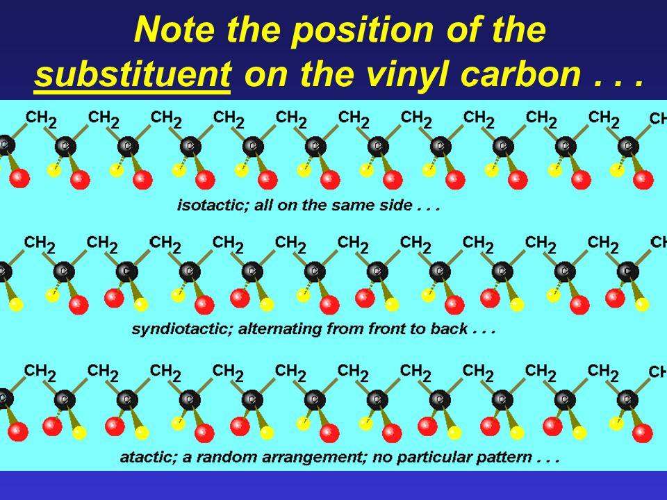 Again, each reactant has 2-point chain growth Volatile materials (Freon 11) added produce bubbles, yielding polyurethane foam.