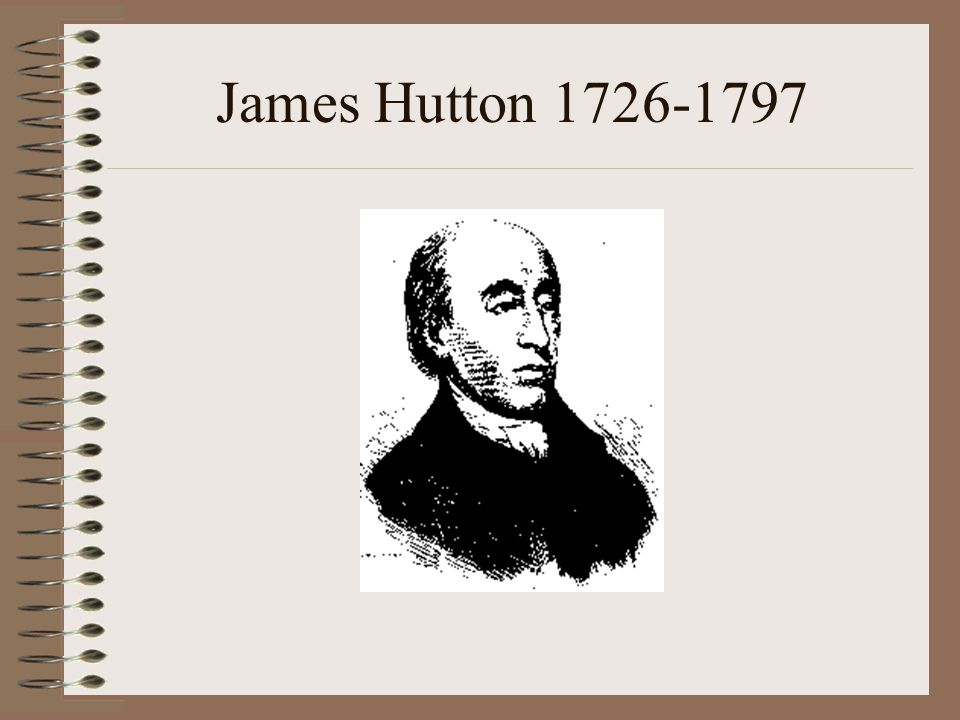 catastrophism, earthly changes were sudden & caused by a series of catastrophes This belief prevailed until the 1700s uniformitarianism 1785 James Hutton The present is the key to the past