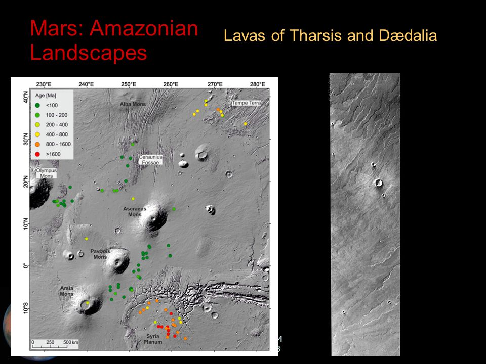 C.M. Rodrigue, 2014 Geography, CSULB Mars: Amazonian Landscapes Lavas of Tharsis and Dædalia
