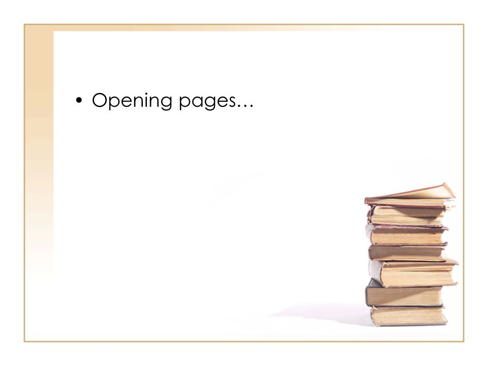 Opening pages…