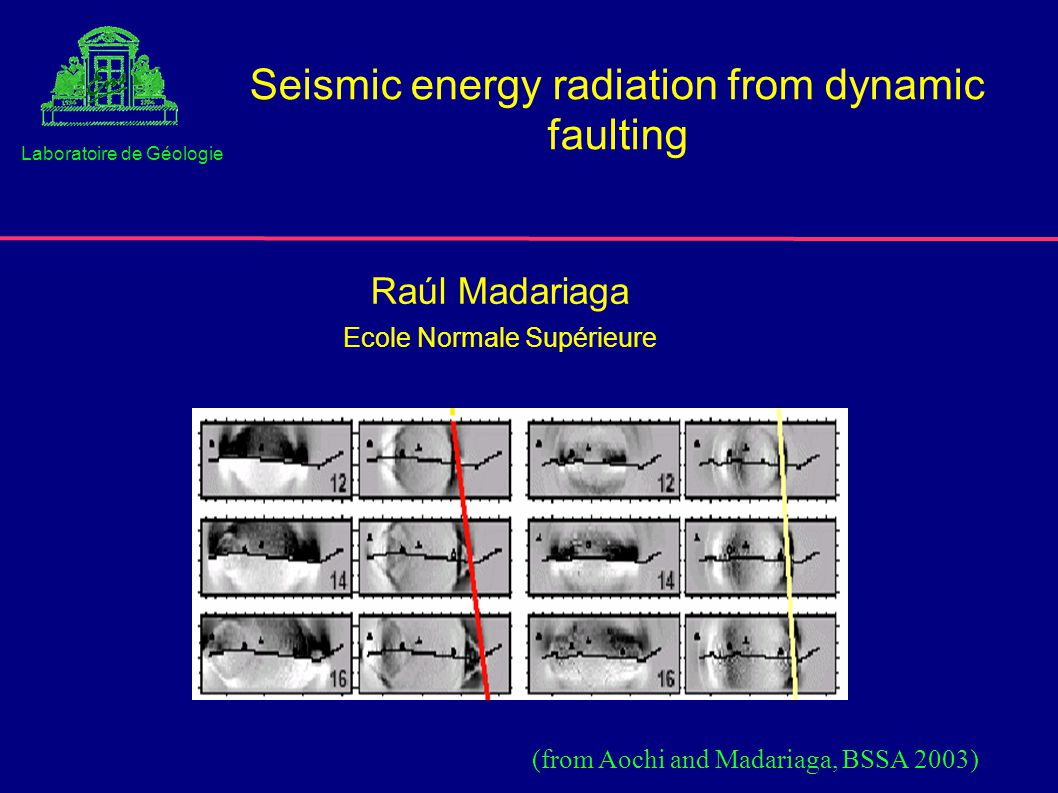 CONCLUSIONS 1.High frequencies play a fundamental rôle in energy balance 2.