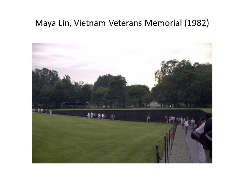 Maya Lin, Vietnam Veterans Memorial (1982)