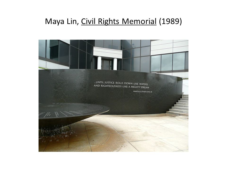 Maya Lin, Civil Rights Memorial (1989)